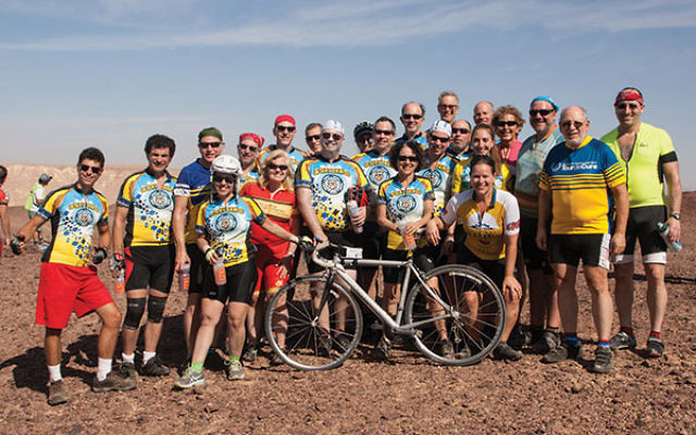 Members of the New Jersey contingent on the 2016 Israel Ride.