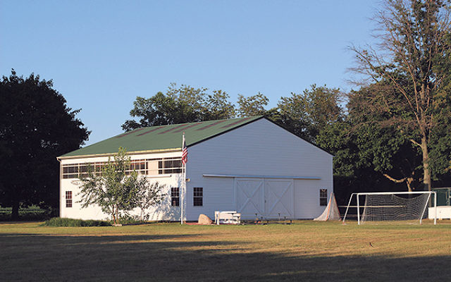 A barn on the new JCC Abrams Camps site will provide indoor space for sports, dancing, and other rainy-day activities.