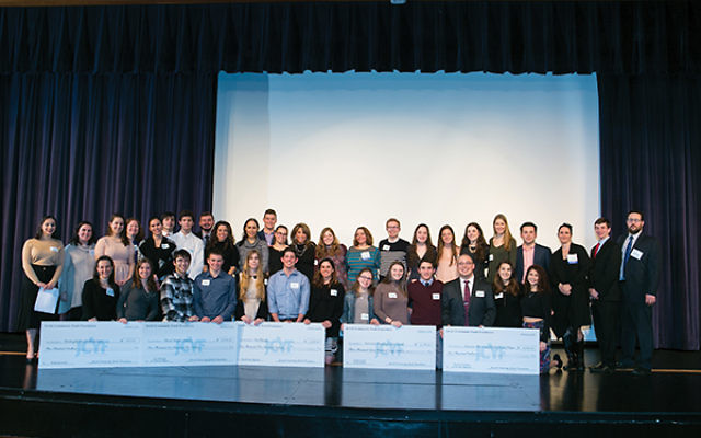 High school seniors and JCYF graduates at the check presentation ceremony. Photos courtesy JCYF