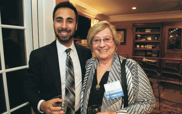 Central NJ JNF director Michael Zimmerman and lay leader Phyllis Solomon, who is serving as cochair of the JNF Spirit of Israel Tour in October, at a JNF major donor thank-you reception.