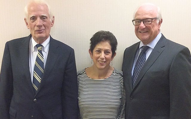 Jewish Social Service Committee leaders, from left, Lee Livingston, Ann Salzberg, and Barnett Hoffman will be the honorees at the group's 100th anniversary celebration in November.