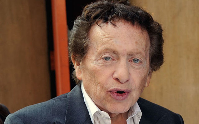 Jackie Mason having lunch on Sixth Avenue in Manhattan, March 22, 2012. (Bobby Bank/WireImage)