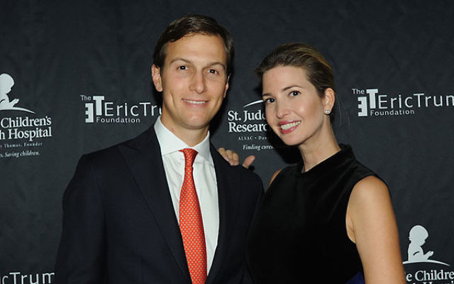 Jared Kushner and his wife, Ivanka Trump, at the Trump National Golf Club in suburban New York, Sept. 21, 2015. (Bobby Bank/WireImage/Getty Images)