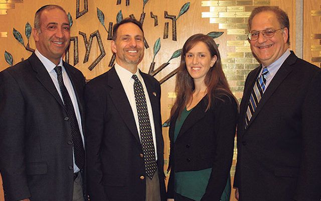 Clergy who will lead the new high school program planned for the fall by Marlboro Jewish Center and Temple Rodeph Torah include, from left, MJC education director Rabbi Ron Koas, MJC's Rabbi Michael Pont, and TRT's Cantor Joanna Alexander and