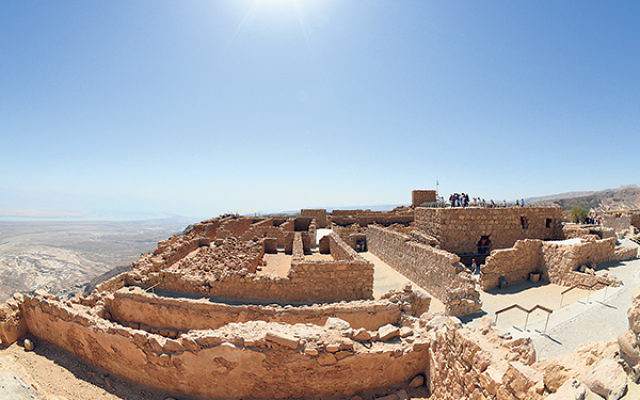 Bernadette Sabatini says she sought to capture the beauty of the moment while atop Masada.