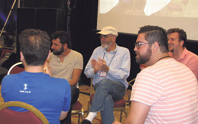 "A group of ""friends"" at the Kabbalah One convention in Newark, May 20."