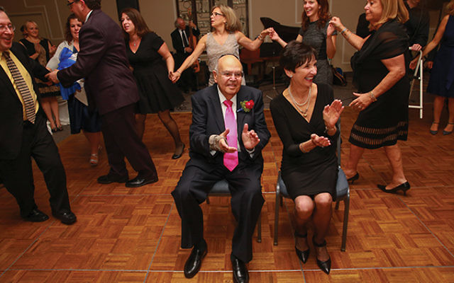 Korbman and his wife Barbara were feted at a gala upon his retirement in 2015. Photo courtesy Adath Shalom
