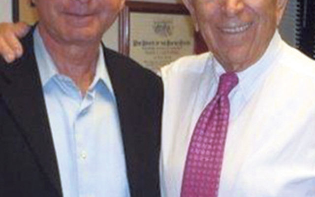 Eitan Yefenof and Sen. Frank Lautenberg at his U.S. Senate office in 2011.