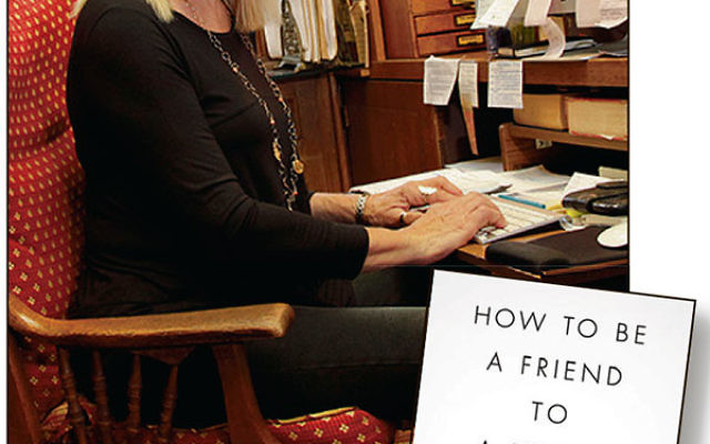 Author Letty Cottin Pogrebin at work in her Manhattan home.