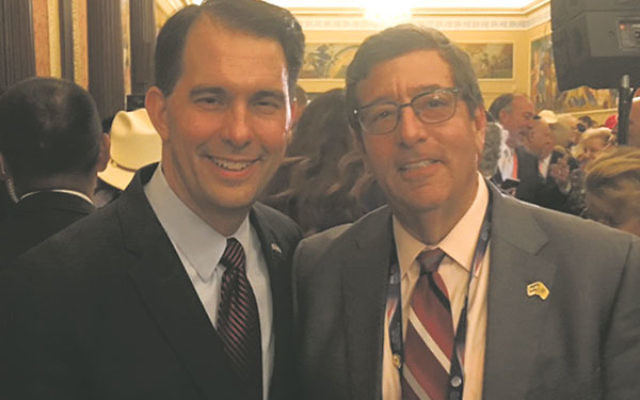 Levenson, right, with Gov. Scott Walker of Wisconsin at the RNC.