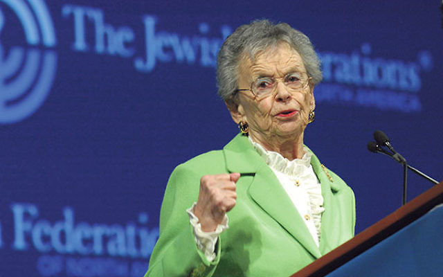 Levine spoke of her battles for social justice at the General Assembly of the Jewish Federations of North America in November 2012 in Baltimore.