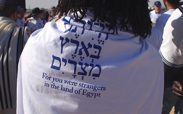 Scene from a protest at the Holot Detention Center in 2015. Photo by Ellen Livingston