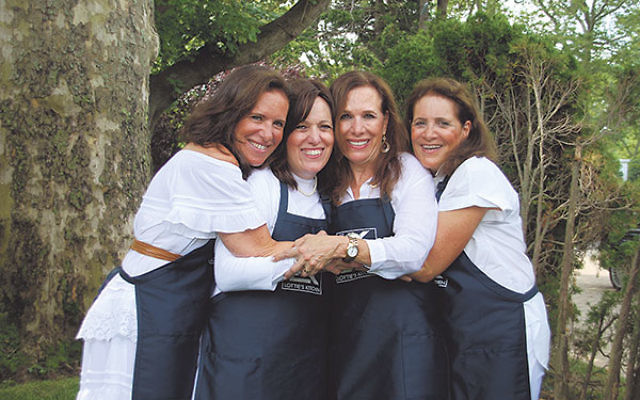 The four daughters of Lottie and Haim Chalom, from left, Claudia Bilderici, Linda Dayan, Nina Cohen, and Susan Menashe.
