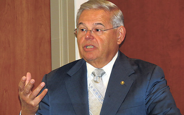 """Sen. Robert Menendez said, """"A world that is rampant with sectarian violence and increased anti-Semitism threatens the security of Jewish citizens everywhere."""""""