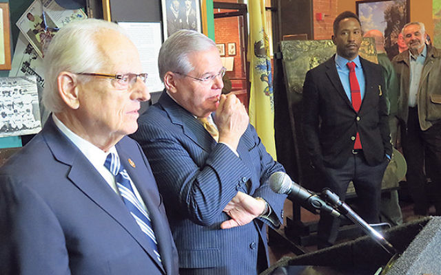 "Sen. Robert Menendez, second from left, said Jewish Americans ""are dead wrong"" if they support the thawing of relations between the United States and Cuba. He and Rep. Bill Pascrell (D-NJ), left, spoke at a news conference in Paterson on Dec."