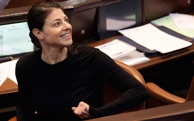 Merav Michaeli, shown in the Knesset, came to the United States with the message that Israel is still improving. (Michal Fattal)