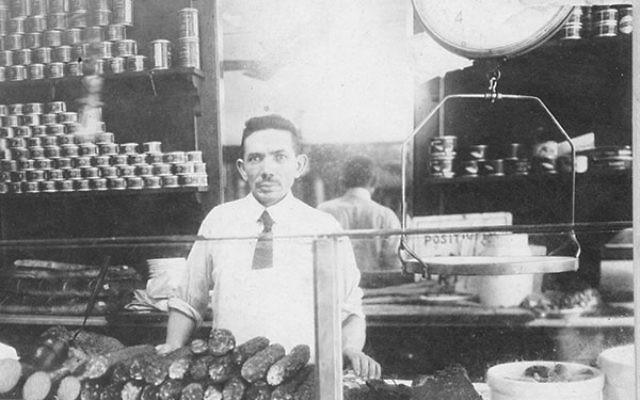 Morris Wepner, owner of the East Harlem deli, in 1921.