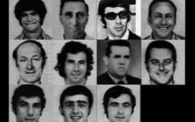 The 11 Israeli Olympians who were murdered during the 1972 Summer Games in Munich. (Danny Ayalon Youtube Channel)