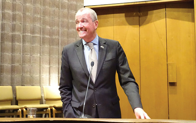 """Democratic candidate Phil Murphy said he wants """"to be governor of the state we used to be."""" Photo by Robert Wiener"""