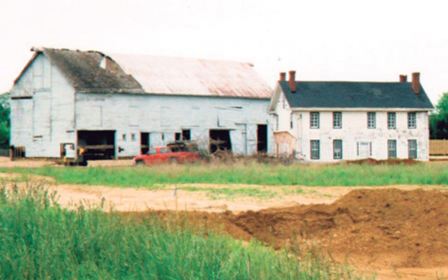 Before it was moved and remodeled as a museum, the barn building was in need of repair.