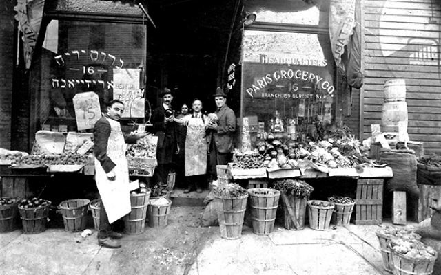 The Paris Grocery on Burnet Street in New Brunswick in 1919, which was owned by Chacham Naar's brothers, Albert and Solomon Naar. Photo courtesy Devin Naar