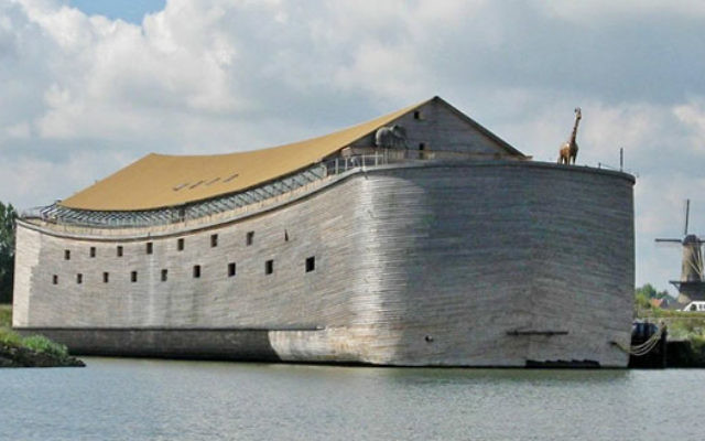 Ark of Noah, a Dutch Christian organization, is planning to sail a life-size replica of Noah's Ark to reach Brazil during the Summer Olympics and Paralympic Games. (Courtesy of Ark of Noah Foundation)