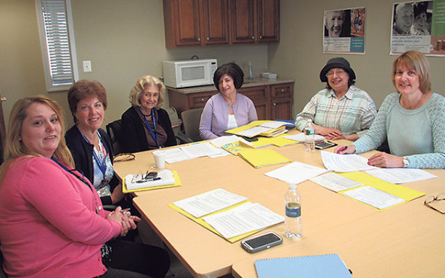 At the JFS of Central NJ monthly nurses' meeting are, from left, Dawn Malakuskie, RN; Kathleen McMahon, RN; Lorraine Rinaldo, RN; Maria Mullen, RN; Renee Unterman, RN; and Karen Giordanella, RN; not pictured are Mairead Bevilaque, RN, and Karen Wint
