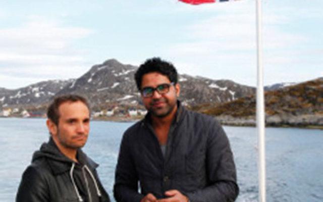 Michael Ochs, left, and Alaa Al Shaham on aconcert tour in Oslo.