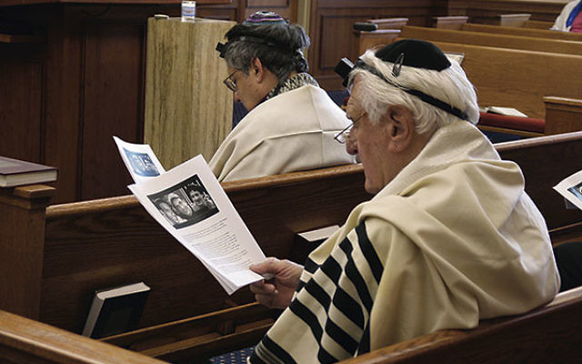 A Hazkara, or memorial service, was held at Oheb Shalom Congregation during morning minyan on July 1 for the three teens killed in Israel.