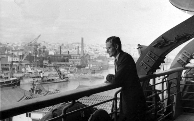 "Hiram ""Harry"" Bingham IV — seen here overlooking the Marseilles harbor, circa 1940 — put his career on the line by defying his superiors and issuing visas to thousands of Jews and other refugees."