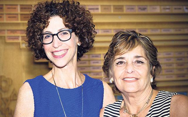 Partnership presidents — current, Jody Hurwitz Caplan, left, and founding, Ellen Goldner — celebrate at the Birthday Bash.
