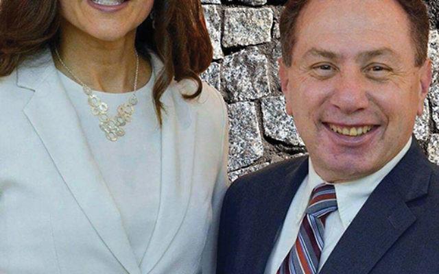 Rabbi Inna Serebro-Litvak and Rabbi Steven Mills, who died last week, at Temple Beth Am in Parsippany.