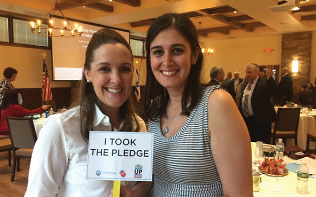 """Participants in the federation's anti-bias Community Preparedness Briefing in August took the """"Stand Up For the Other"""" pledge."""