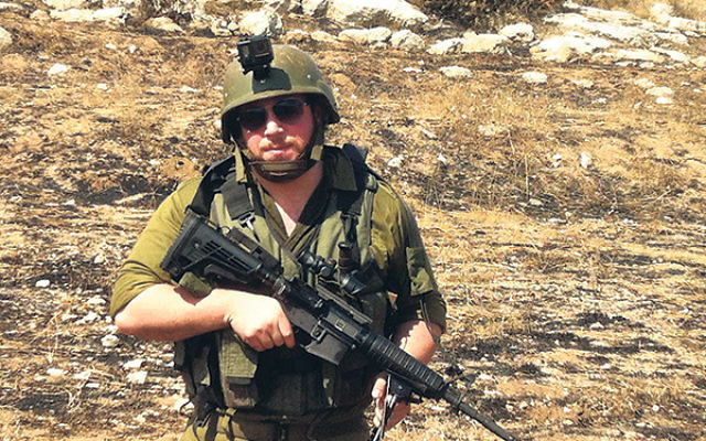 """Staff Sgt. Loel Hudis said he saw """"rational and sane"""" people on both sides of the Israeli-Palestinian conflict."""