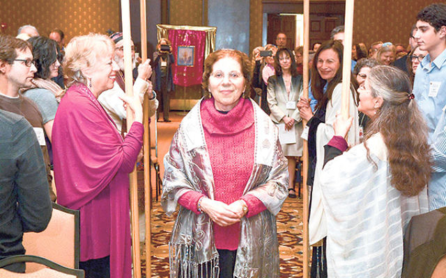 """Reb Deb"" in procession at the Jewish Renewal ordination"