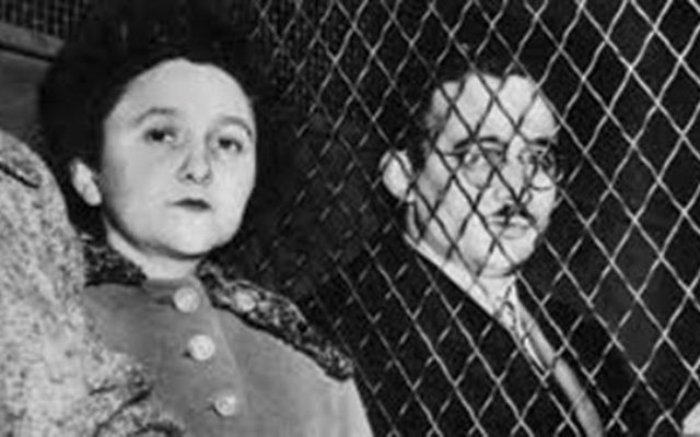 Ethel and Julius Rosenberg in custody in 1951