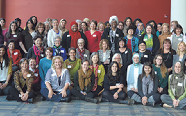 The participants in last year's Muslim-Jewish Women's Leadership Conference, Nov. 2, 2014, in Philadelphia