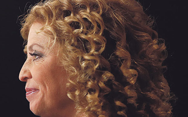 Debbie Wasserman Schultz sitting for an interview at the Wynn Resorts Ltd. before the first Democratic presidential debate in Las Vegas, Oct. 13, 2015.