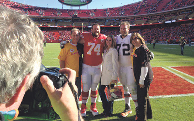 The Schwartz family, from left, Dad Lee, Geoff, Geoff's wife Meridith Snipes, Mitchell, and Mom Olivia Goodkin.