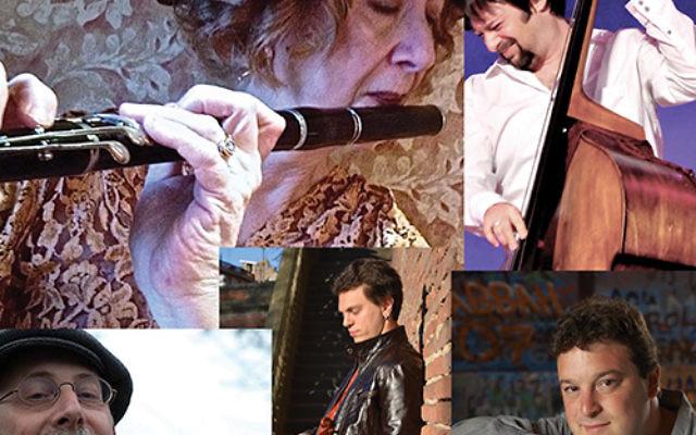 A collage of Adrianne Greenbaum and FleytMuzik, her klezmer ensemble. Photos courtesy Adrianne Greenbaum