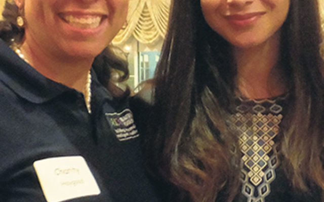Shiza Shahid, right, with Charity Haygood.