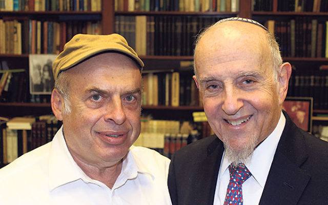 After Israel's Chief Rabbinate rejected a conversion performed by prominent modern Orthodox Rabbi Haskel Lookstein, right, Jewish Agency for Israel Chair Natan Sharansky protested on his behalf.