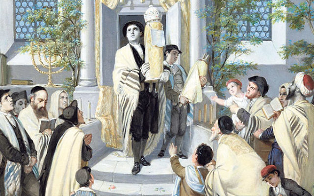 An illustration of the Shavuot holiday.