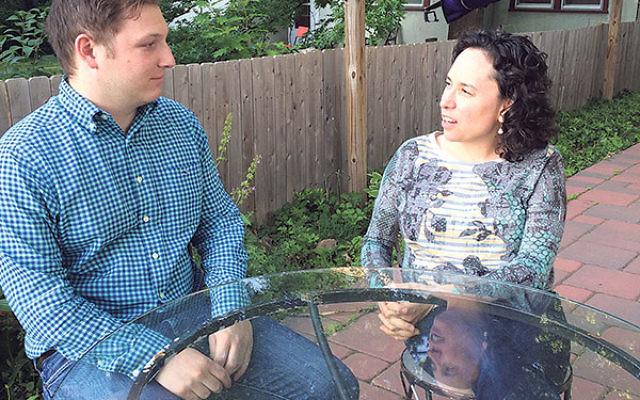 Matt Lieberson, a recent Vanderbilt University graduate, meets with Rabbi Julie Roth, executive director of Princeton's Center for Jewish Life/Hillel, where he will serve as a Springboard fellow.