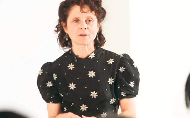 Susan Stein in performance as Etty Hillesum, the Dutch diarist killed at Auschwitz.