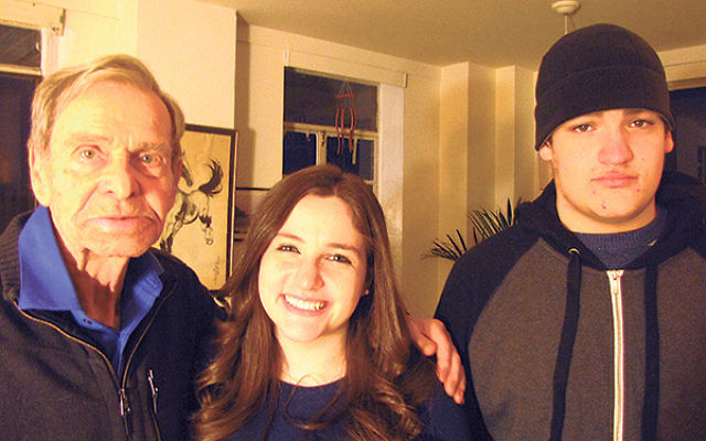 Bruriah senior Elisheva Sternglass, assisted by her brother Joseph, interviewed one-time German soldier Hans Koch at his home.