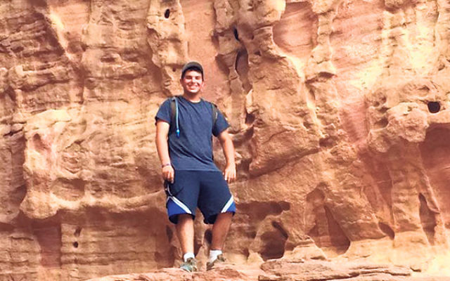 Steven Langer, on the April 28 hike in Israel's Timna Park shortly before his fall.
