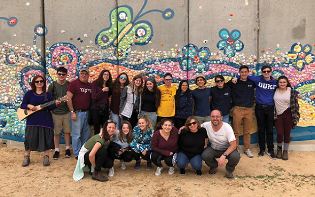 Students and professionals from Congregation Ohr Shalom: The Summit JCC (COSS) at the Gazan border. Photos courtesy COSS