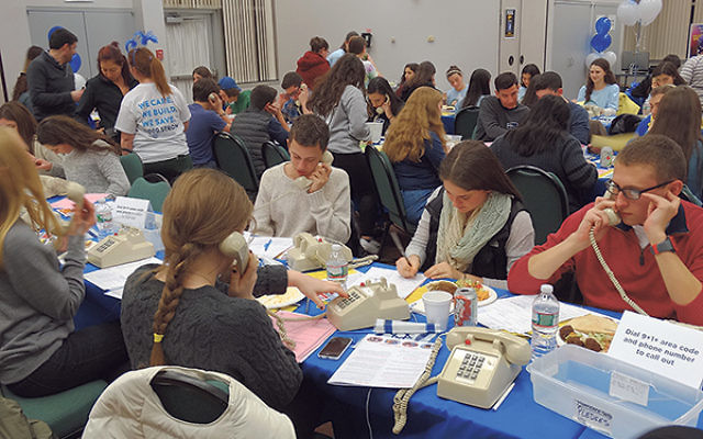 Over 150 teens and college students came to the Aidekman campus in Whippany to support the Super Sunday phonathon.