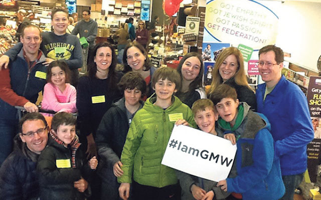 Shopping in the Greater Morristown ShopRite for the Supermarket Sweep are members of the Berelowitz, Goldstein, and Rothschild families.